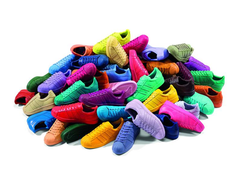 kolorowe buty adidas superstar