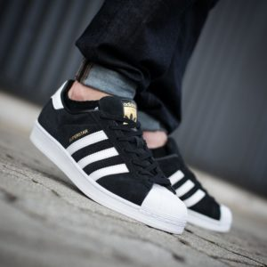buty adidas superstar suede black