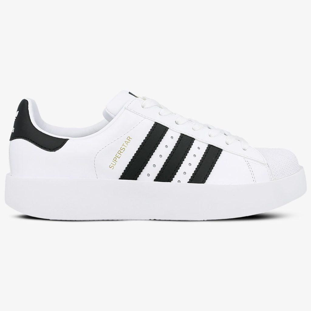 adidas superstar bold białe z czarnymi paskami